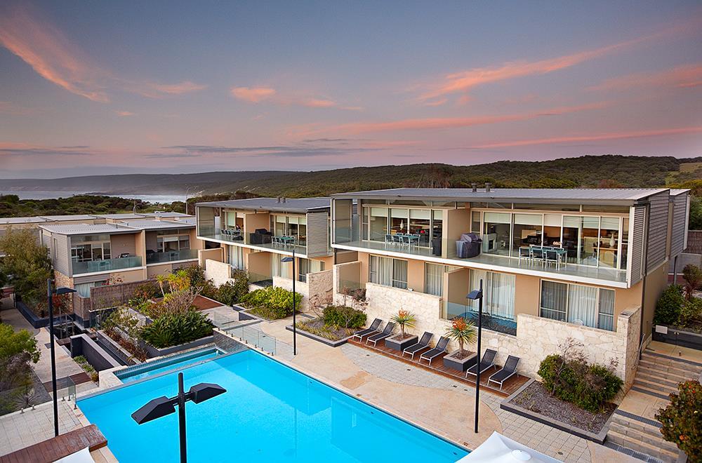 Villa resort sunset